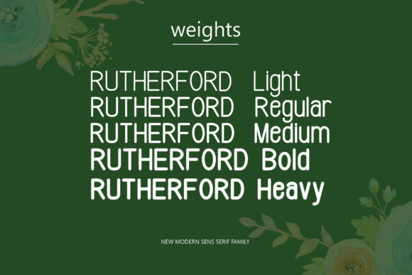 Rutherford Font