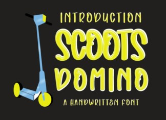 Scoots Domino Font