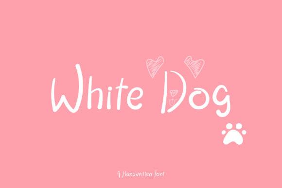 White Dog Font