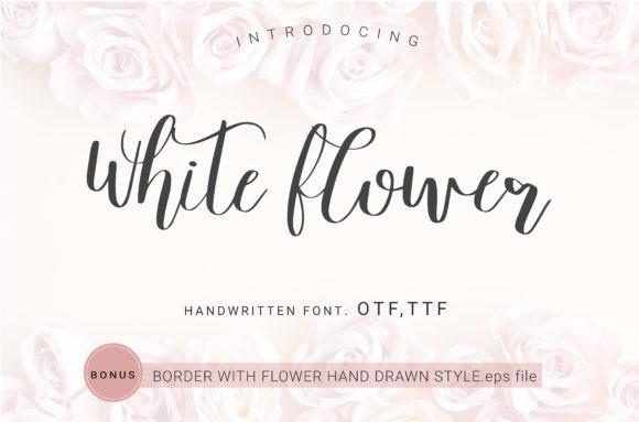 White Flower Font