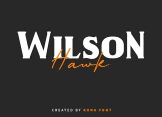 Wilson Hawk Font