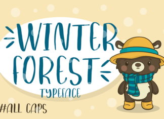 Winter Forest Font