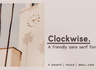 Clockwise Sans Font