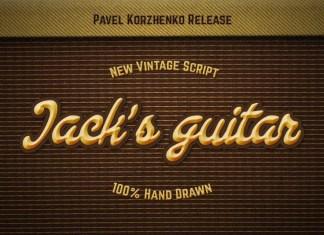Jack's Guitar Font