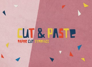 Cut And Paste Font