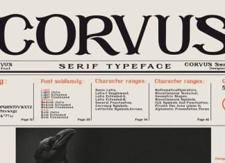 Corvus Font