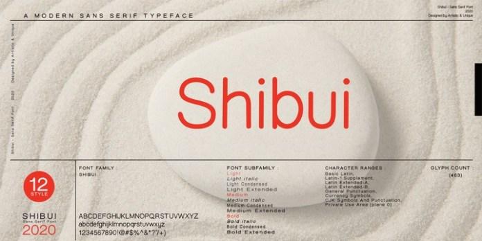 Shibui Font