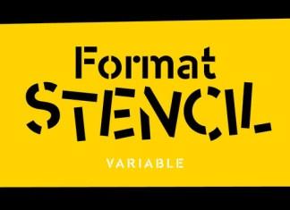 Format Stencil Font