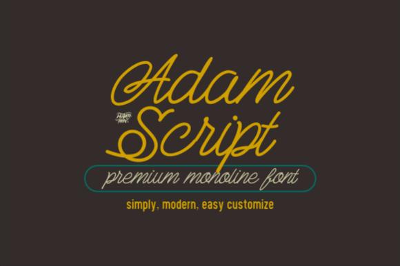 Adam Script Font