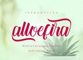 Alloefira Font