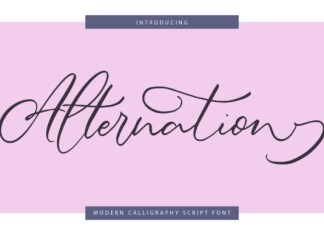 Alternation Font