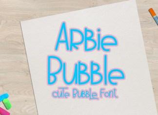 Arbie Bubble Font