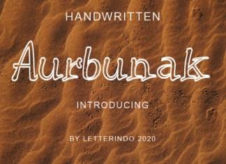 Aurbunak Font
