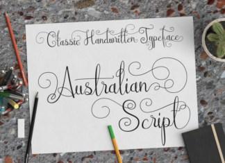 Australian Script Font