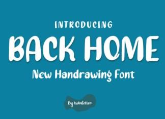 Back Home Font