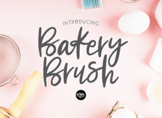 Bakery Brush Font
