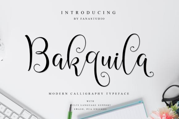 Bakquila Font
