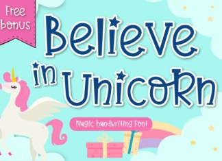 Believe in Unicorn Font