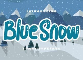 Blue snow  Font