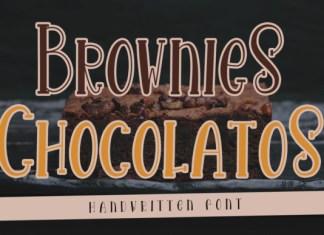 Brownies Chocolatos Font
