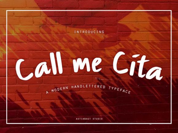Call Me Cita Font