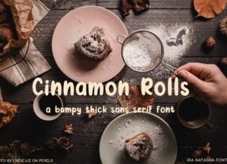Cinnamon Rolls Font