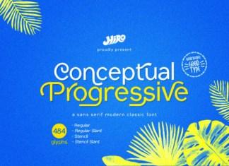 Conceptual Progressive Font
