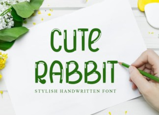 Cute Rabbit Font