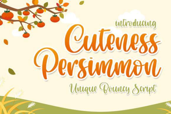 Cuteness Persimmon Font
