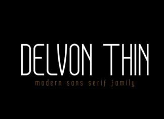 Delvon Thin Font