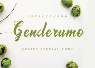 Genderumo Font