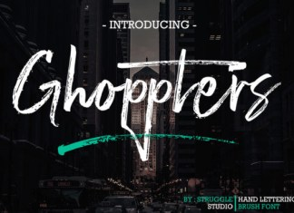 Ghoppters Font