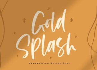 Gold Splash Font