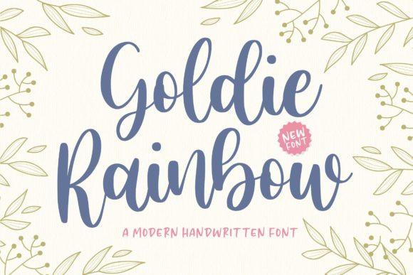 Goldie Rainbow Font
