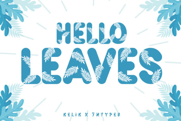 Hello Leaves Font