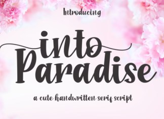 Into Paradise Font