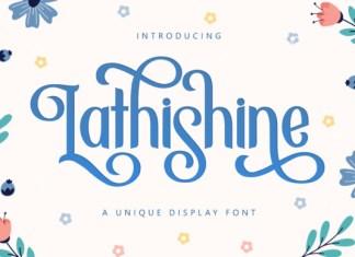Lathishine Font
