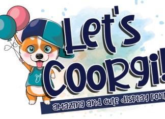Let's Coorgi! Font