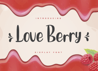Love Berry Font