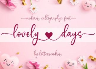 Lovely Days Font