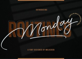 Monday Routines Font