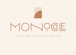Monocole Font