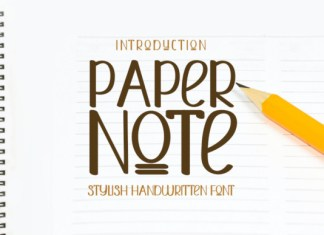 Paper Note Font