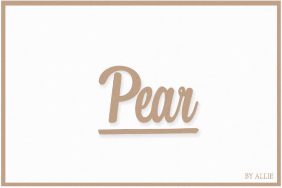 Pear Font