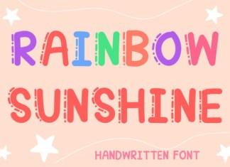 Rainbow Sunshine Font