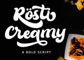 Rösti Creamy Font