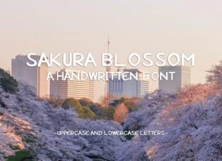 Sakura Blossom Font