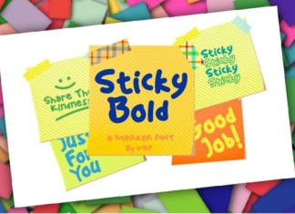 Sticky Bold Font