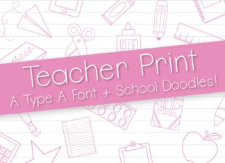 Teacher Print Font