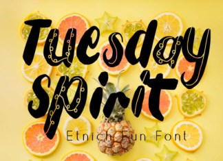 Tuesday Spirit Font